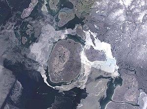Prince Charles Island - NASA Landsat image of Prince Charles Island