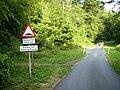 Where footpath meets lane near Kirkbymoorside Golf Clubhouse - geograph.org.uk - 207484.jpg