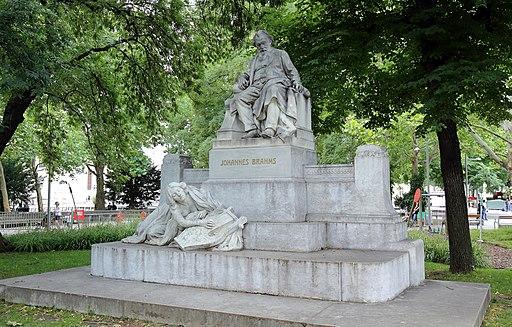 Wien - Johannes-Brahms-Denkmal, Karlsplatz