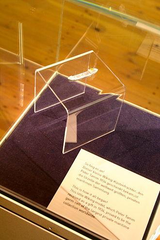 Internationales Maritimes Museum Hamburg - The first model ship