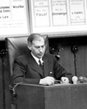 Wilhelm Stuckart - Wilhelm Stuckart at the Ministries Trial, 1948