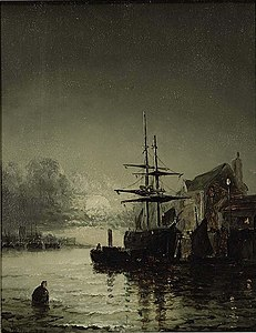 William Anslow Thornley - Moonlight on the Thames.jpg