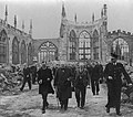 Winston Churchill walks through the ruins of Coventry Cathedral.jpg