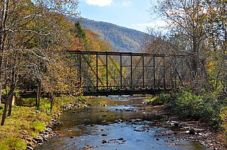 National Register of Historic Places listings in Bland County, Virginia - Image: Wolf Creek Bridge, Virginia