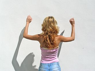 Blond - A woman with long blonde hair