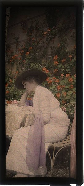 File:Woman reading in garden (2678236436).jpg