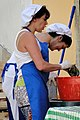 Women Chat While Cleaning Seafood - Alfama District - Lisbon, Portugal (4633510208).jpg