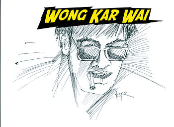 Illustration of Wong Kar Wai