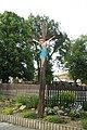 Wood wayside cross in Číhalín, Třebíč District.jpg