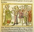 Woodcut illustration of Circe and Odysseus with men transformed into animals - Penn Provenance Project.jpg