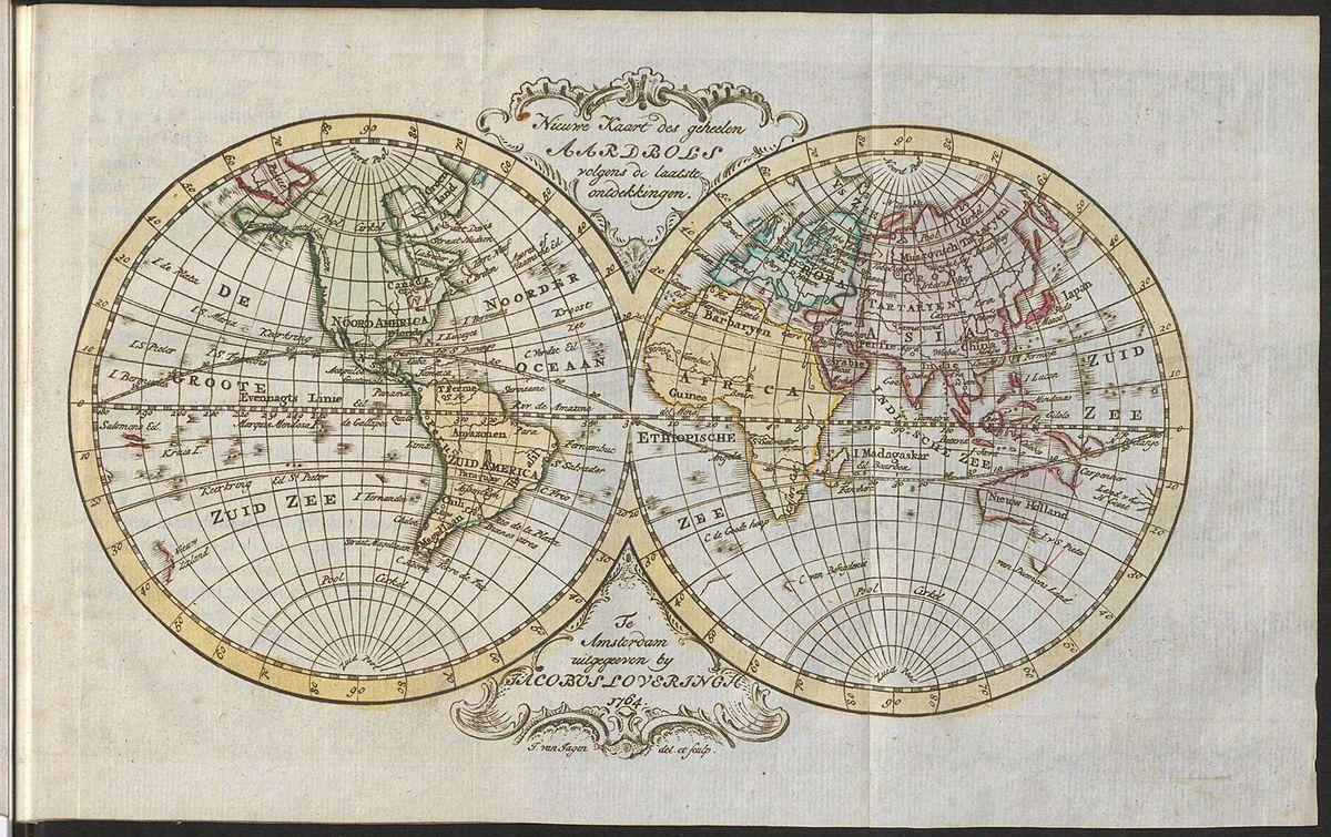File World Map From The Book Kort Begrip Der Waereld Historie