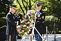 Wreath laying at Pres. Kennedy's gravesite in Arlington National Cemetery (27335290145).jpg