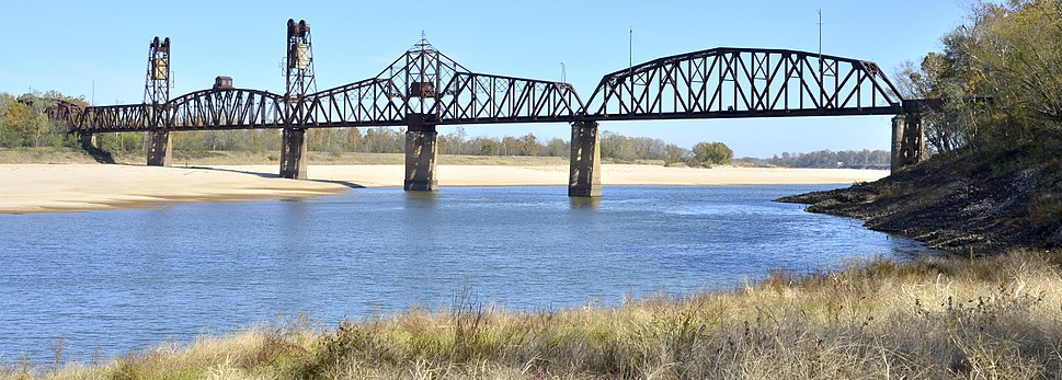 The Yancopin Bridge is the last crossing of the Arkansas River before it flows into the Mississippi River