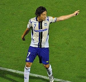 Gamba Osaka - Yasuhito Endō, most capped player and number-one goalscorer in Gamba's history.
