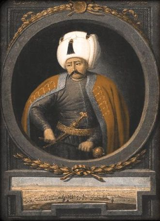 Battle of Marj Dabiq - Portrait of Selim I by Konstantin Kapıdağlı