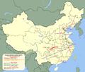 Yichang-Wanzhou nagysebességű vasútvonal térképvázlata.png