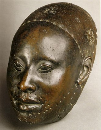 Bronze Head from Ife - Copper mask of Obalufon from the city of Ife, c.1300