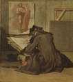 Young Student Drawing (Jean Siméon Chardin) - Nationalmuseum - 17782.tif