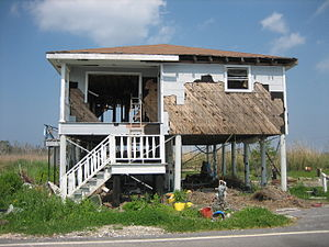 Home insurance - A home in Louisiana damaged by Hurricane Katrina
