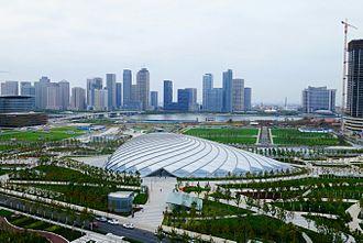 Binhai railway station - Single layer steel shell structure, photo captured before renaming