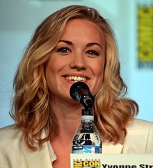 Yvonne Strahovski at the San Diego Comic-Con International in July 2012