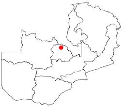 Chingolas placering i Zambia