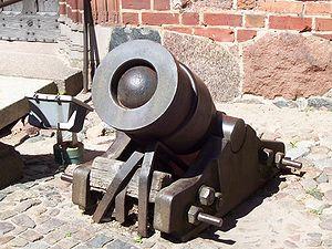 Bombardment - A bombard, Malbork Castle