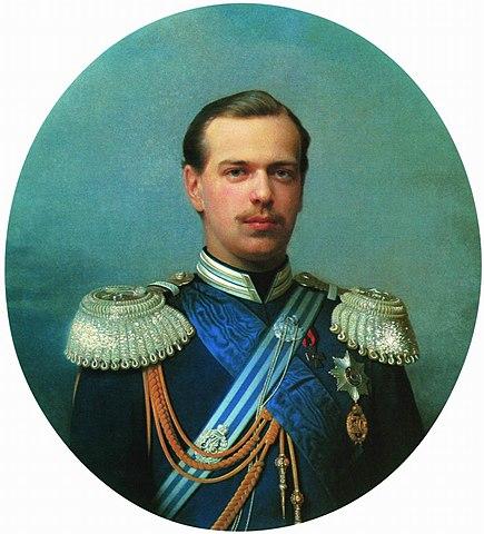 Цесаревич Александр Александрович в мундире Лейб-Гвардии Атаманского полка, шефом которого был он сам. 1867, С. Зарянко