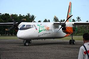 Marinduque Airport - A Zest Airways MA-60 arrives at Marinduque.