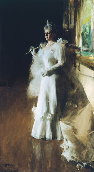"Bertha Palmer - Portrait titled ""Mrs. Potter Palmer"" by Anders Zorn, 1893"