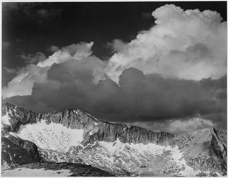 """File:""""Clouds - White Pass, Kings River Canyon (Proposed as a national park),"""" California, 1936., ca. 1936 - NARA - 519930.jpg"""