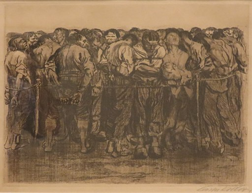 'Die Gefangenen' (The Prisoners) by Käthe Kollwitz, Honolulu Museum of Art