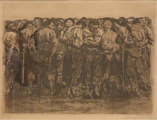 'Die Gefangenen' (The Prisoners) by Käthe Kollwitz, Honolulu Museum of Art