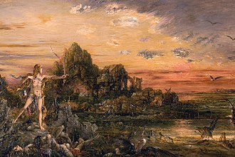 Stymphalian birds - Image: 'Hercules and the Stymphalian Birds' by Gustave Moreau, c 1872