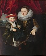 'Portrait of a Young Woman with a Child' by Anthony van Dyck, The Hermitage.JPG