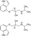 (±)-Pindolol Enantiomers Structural Formulae.png