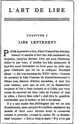 Émile Faguet: L'Art de lire