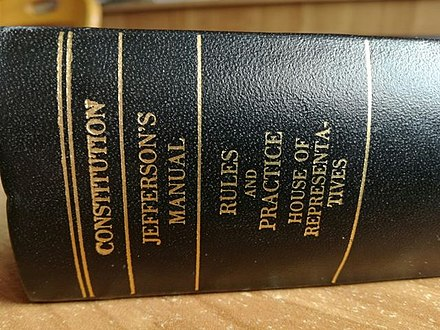 Book cover of the US constitution with the Jefferson's Manual Ustava USA.jpg