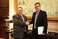 Συνάντηση Υπουργού Εξωτερικών Νίκου Κοτζιά με τον Πρέσβη της Γερμανίας Peter Schoof, Υπουργείο Εξωτερικών, 6.2.2015 (15833327464).jpg