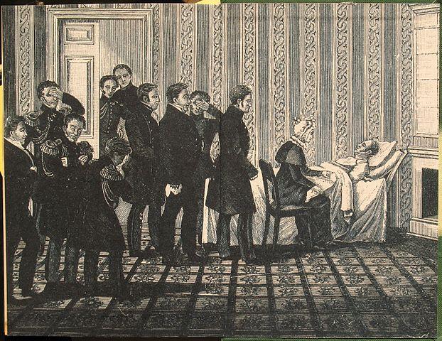 Александр I на смертном одре. 1825 год
