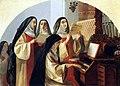Брюллов Монахини монастыря Святого Сердца в Риме, поющие у органа.jpg