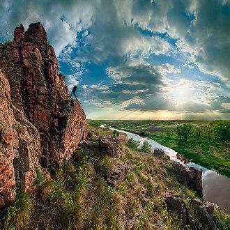 Telmanove Raion - Image: Захід над Ласпою