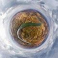 Річка Сіверський Дoнець, НПП Святi Гори, повна сферична панорама з 200 метрiв.jpg