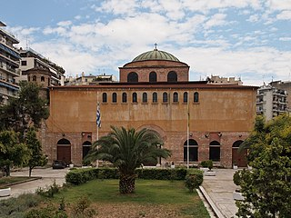 Hagia Sophia, Thessaloniki (8th century), one of the 15 UNESCO's Paleochristian and Byzantine monuments of the city