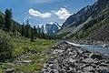 Шавла между Верхним и Нижним Шавлинскими озерами на фоне Северо-Чуйского хребта.jpg