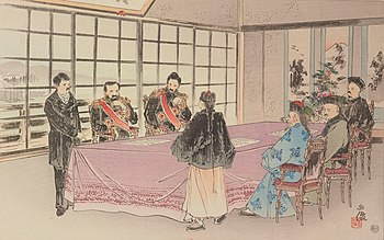 Shimonoseki's contract was concluded on April 17, 1895 in the Shunpanro Hall