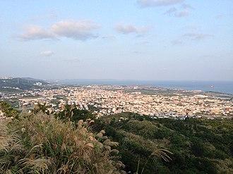 Nishihara, Okinawa - Nishihara town from Untama-Mui Mt.