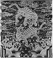 자수 쌍호표 무늬 흉배-조선-刺繡雙虎豹文胸背-朝鮮-Rank badge with a pair of tiger-leopards MET 267343.jpg