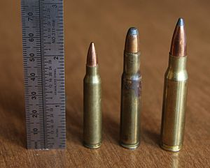 .30 Remington - Image: .30 Remington with .223 Rem and .308 Win