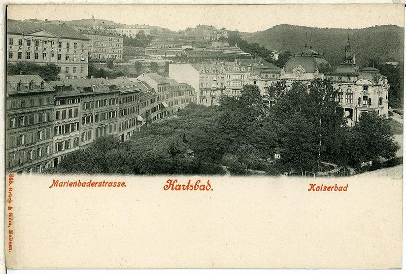 File:00645-Karlsbad-1898-Marienbaderstraße, Kaiserbad-Brück & Sohn Kunstverlag.jpg